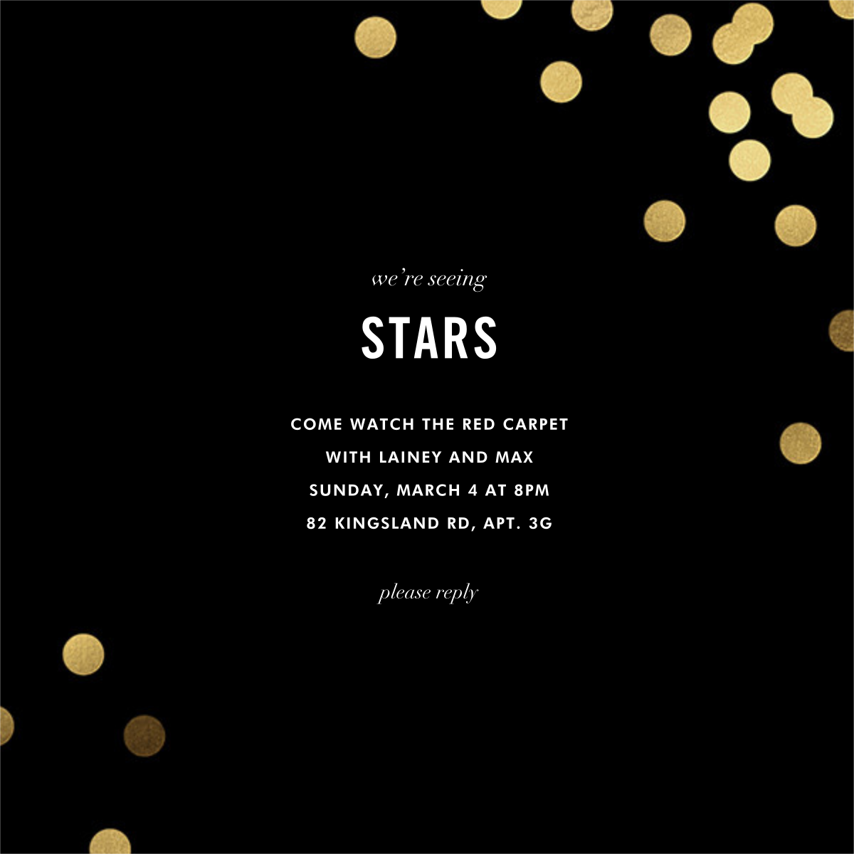 Confetti (Square) - Black - kate spade new york - Viewing party
