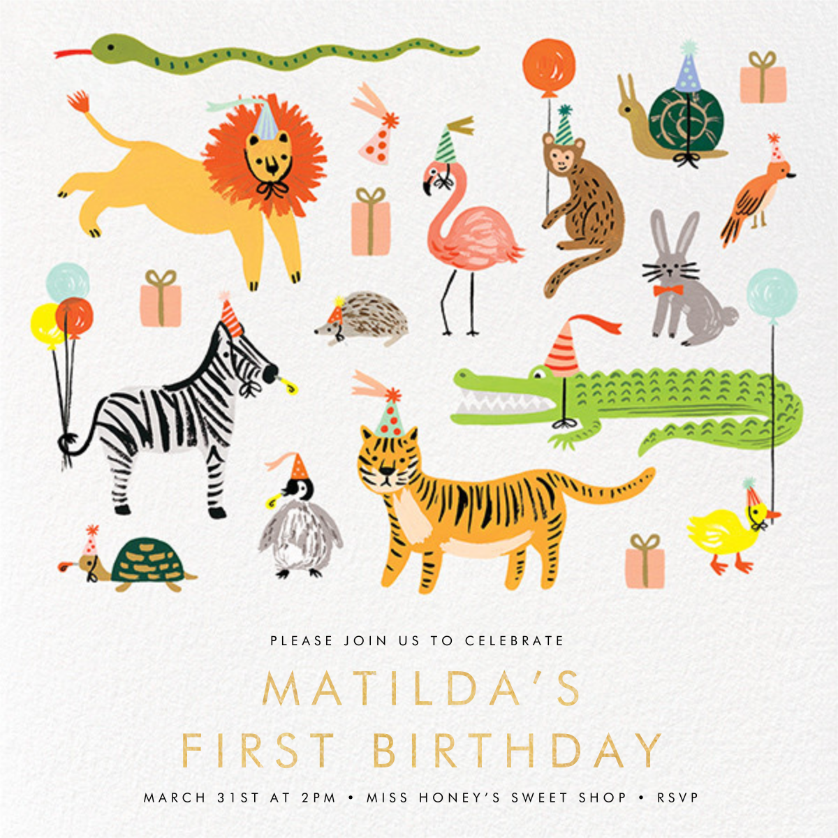 Animal House - Rifle Paper Co. - 1st birthday