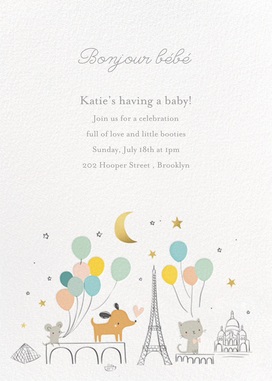 Bonjour Paris - Little Cube - Baby shower
