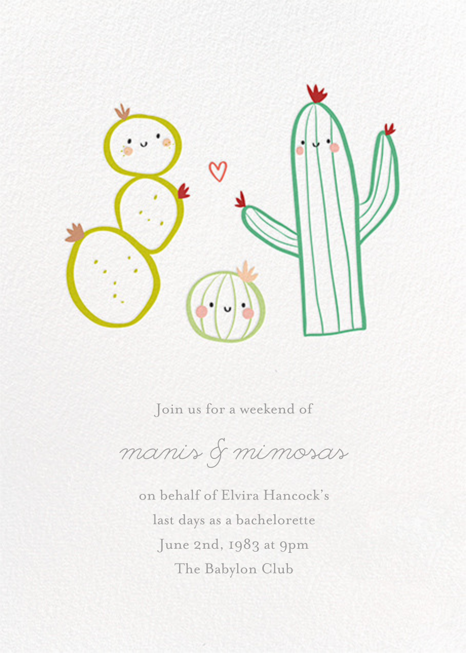 Prickly Pals - Little Cube - Bachelorette party