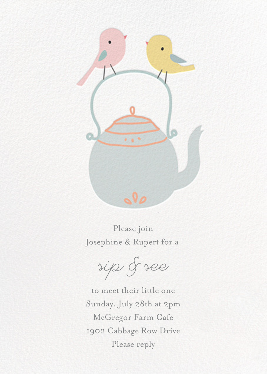 Tweeting Over Teatime - Little Cube - Woodland baby shower
