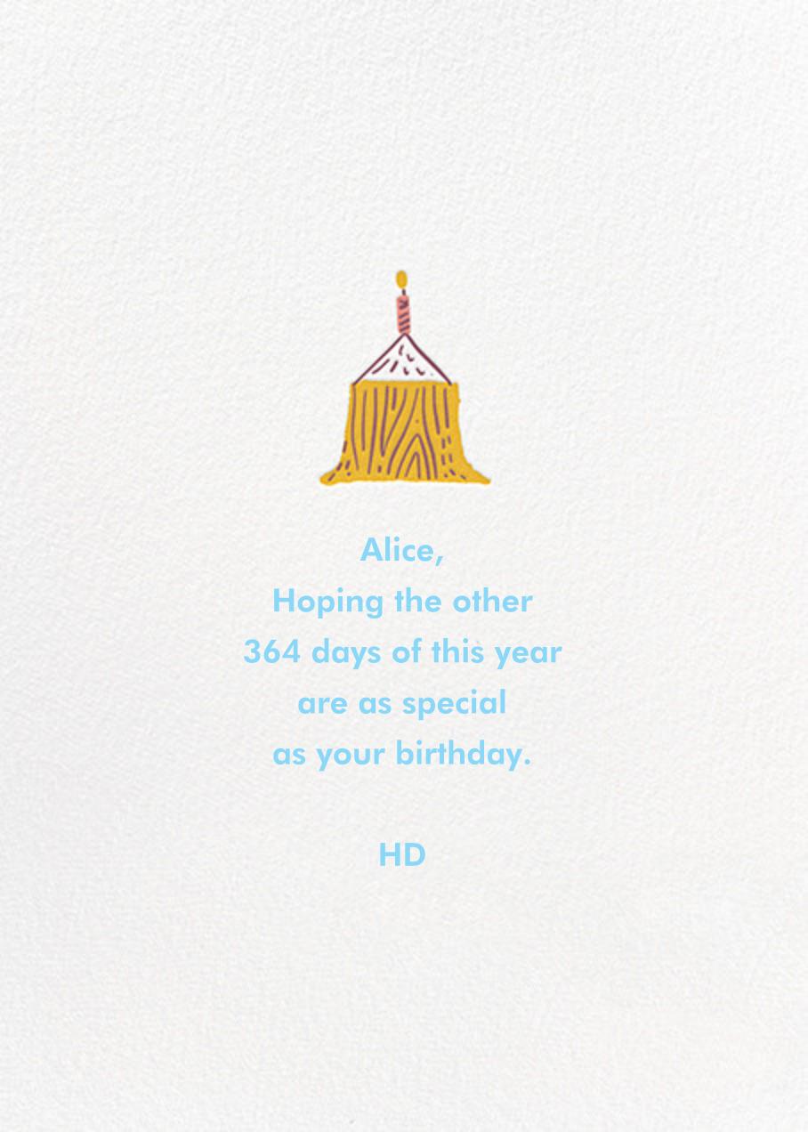 Beaver Buds - Hello!Lucky - Birthday - card back