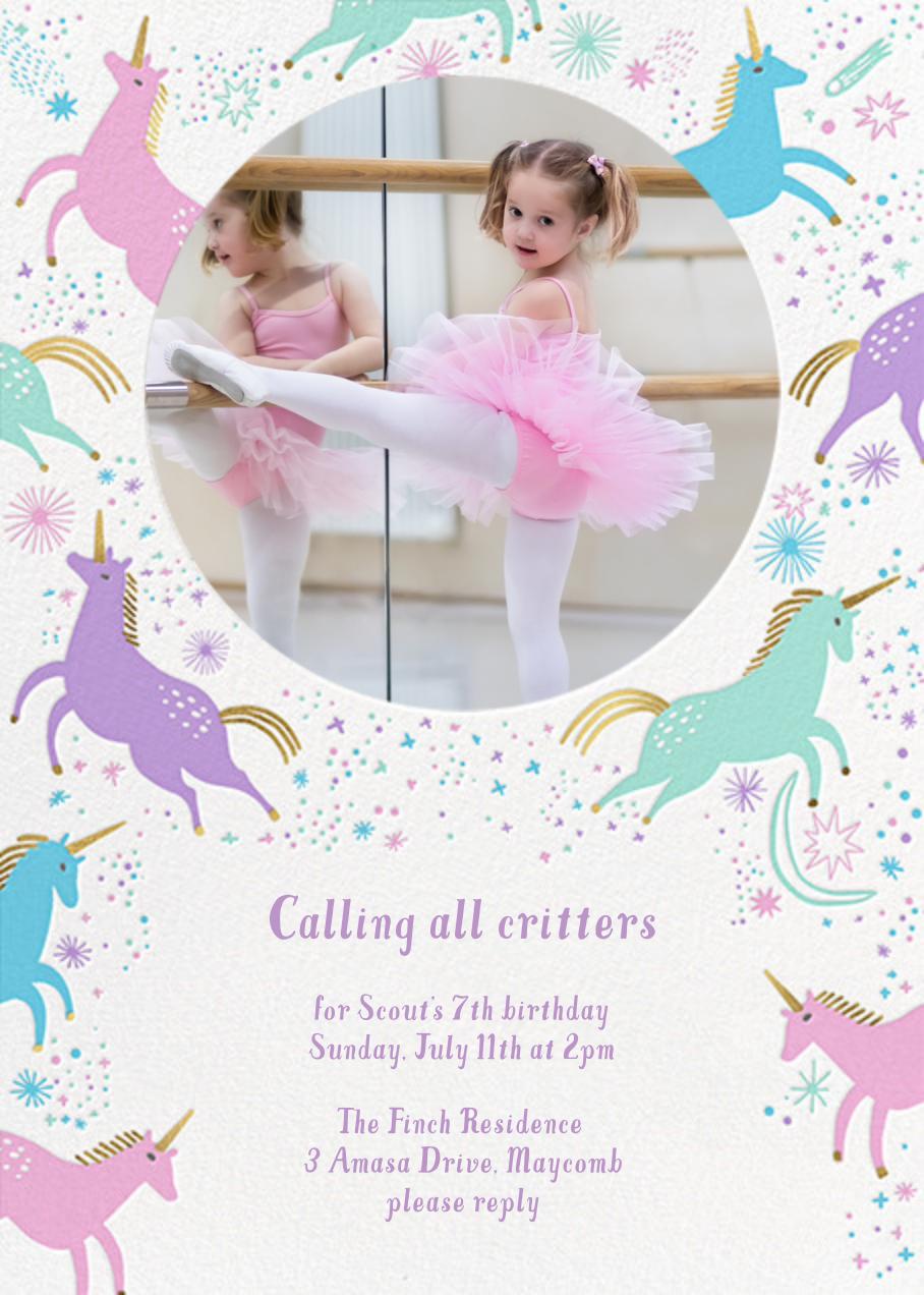 Unicorn Frolic - Hello!Lucky - Kids' birthday