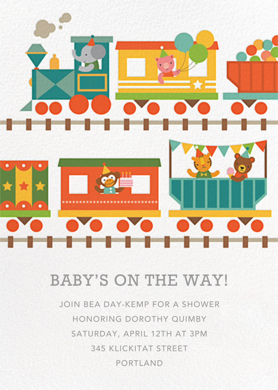 Circus Choo-Choo - Petit Collage - Baby shower