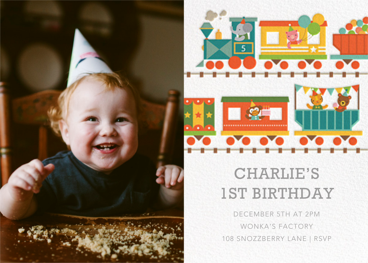 Circus Choo-Choo Photo - Petit Collage - 1st birthday
