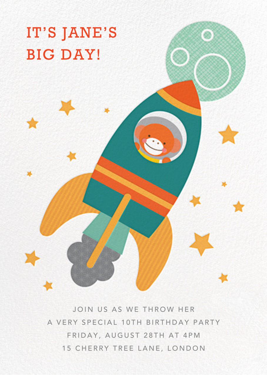 Cosmonaut Chimp - Petit Collage - Kids' birthday