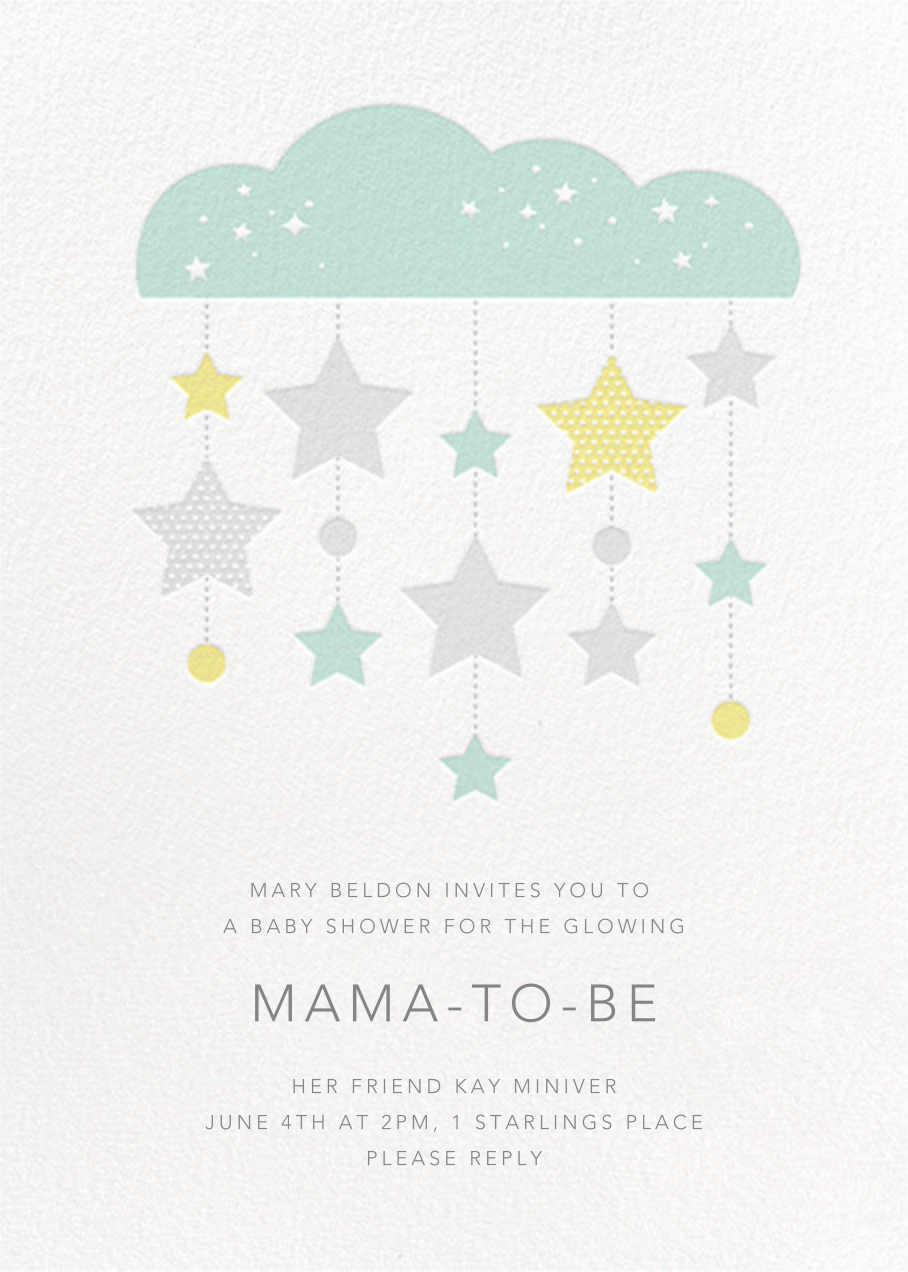 String of Stars - Petit Collage - Baby shower