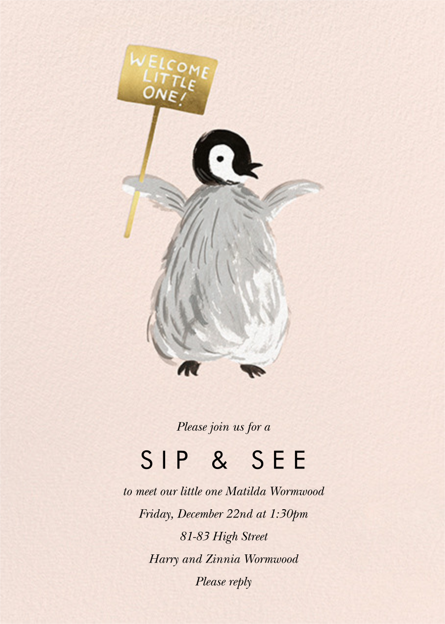 Baby Penguin - Rifle Paper Co. - Baby shower