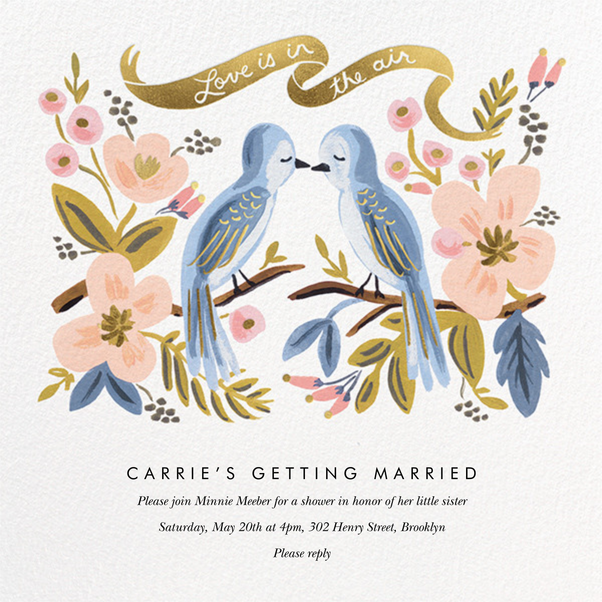 Love is Lighter than Air - Rifle Paper Co. - Bridal shower