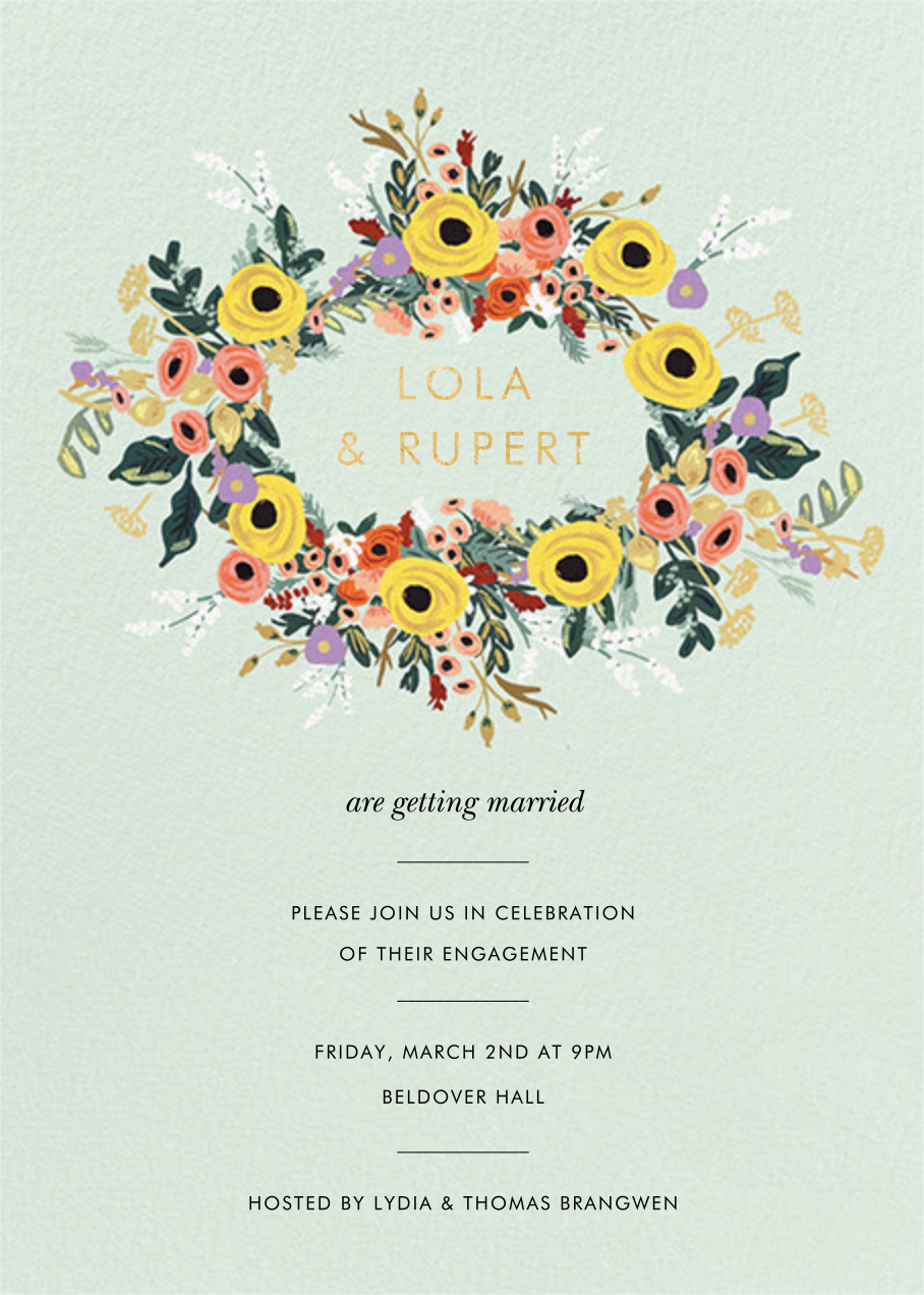 Buttercup Garland - Rifle Paper Co. - Engagement party