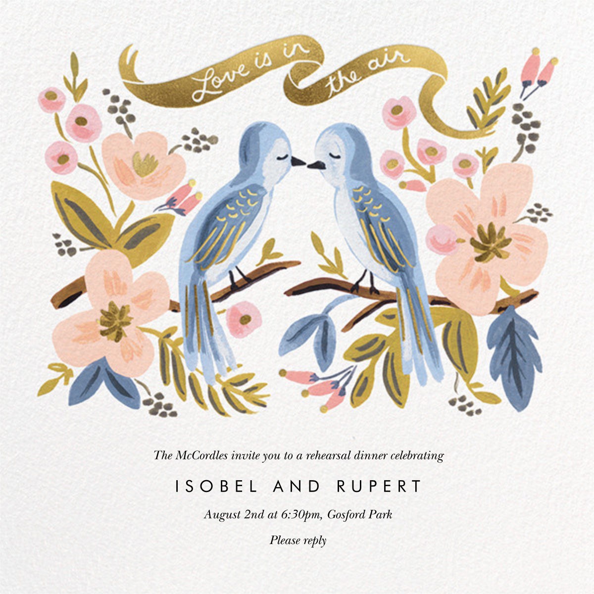 Love is Lighter than Air - Rifle Paper Co. - Rehearsal dinner