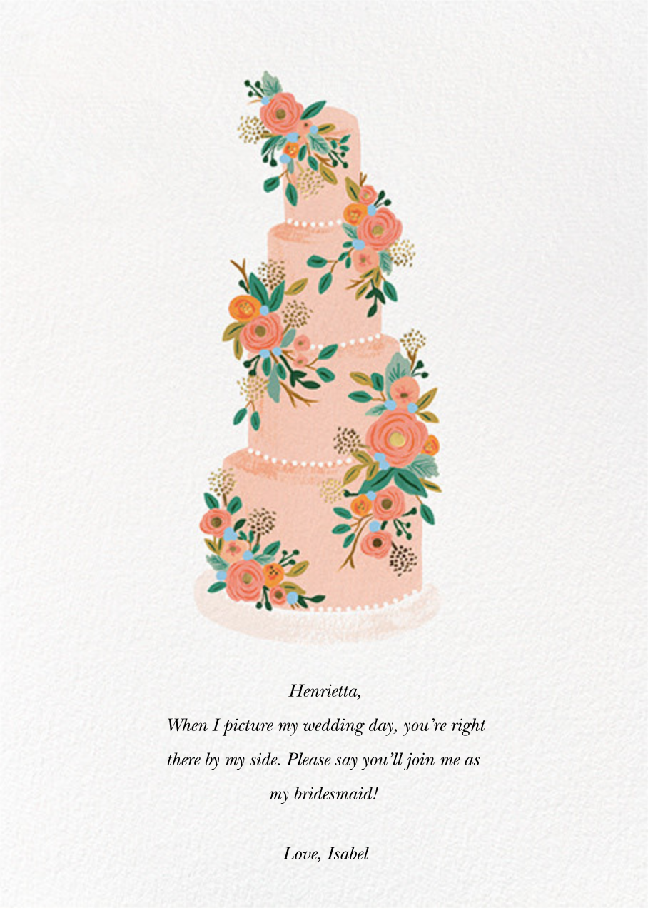 Princess Cake - Rifle Paper Co. - Wedding party requests