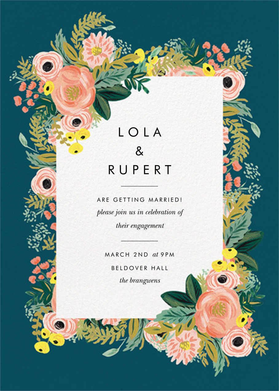 Spring Garden - Rifle Paper Co. - Engagement party