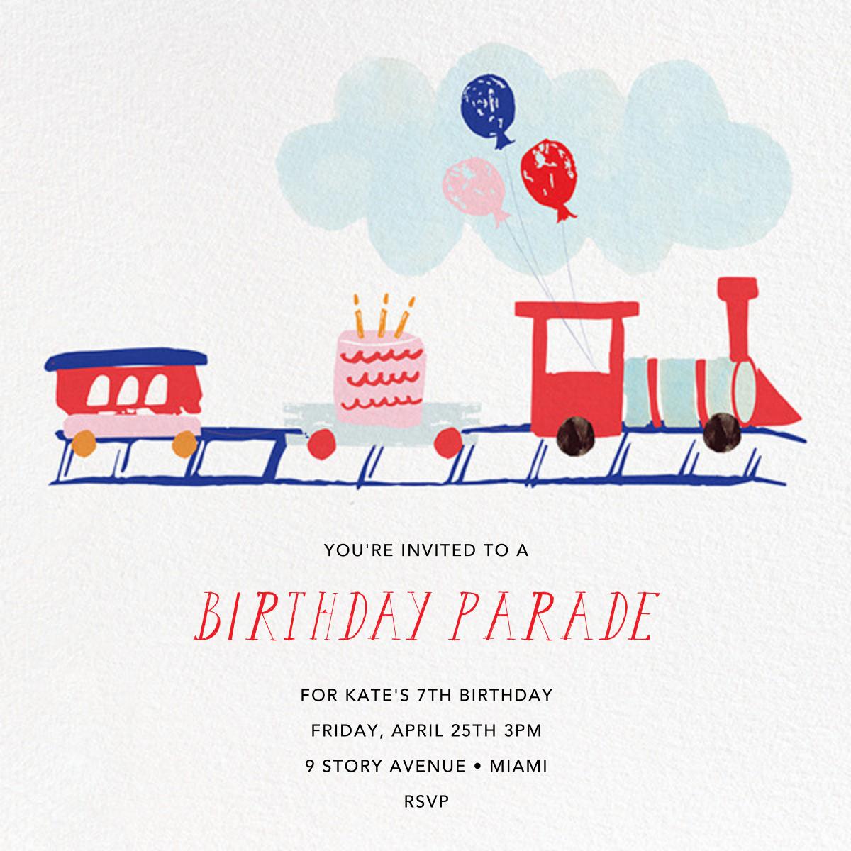 Train Crossing Ahead - Mr. Boddington's Studio - Kids' birthday