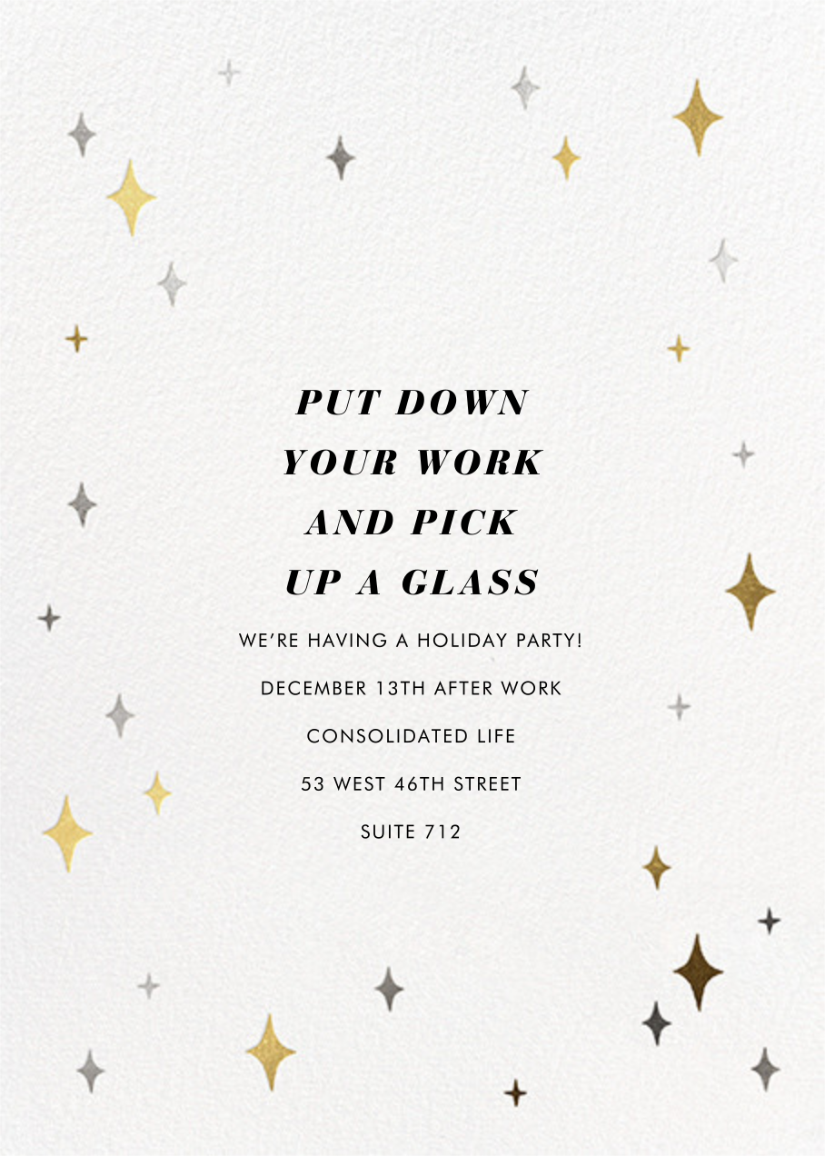 Space Age Stars - Paperless Post - Corporate invitations