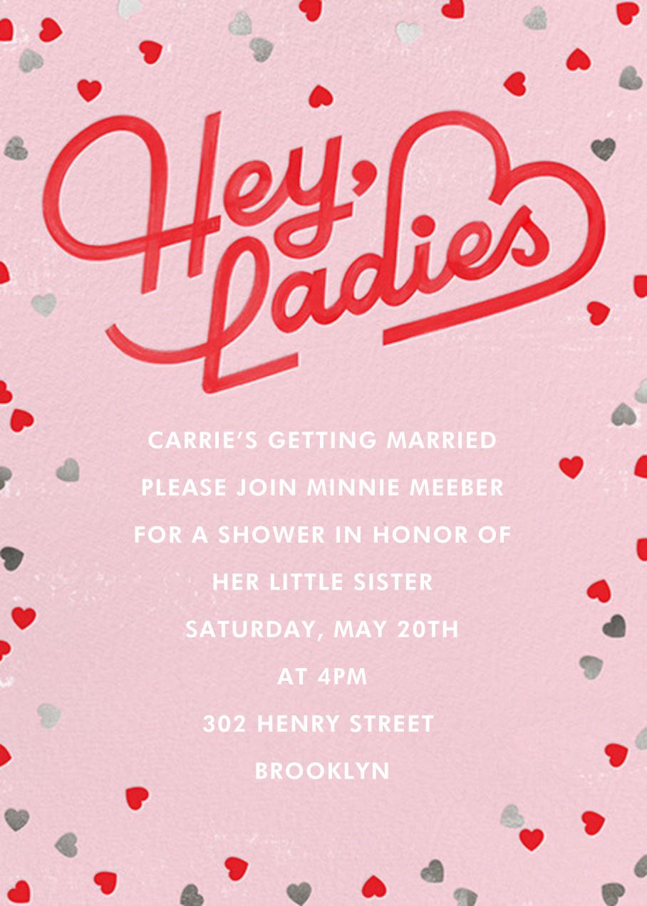 Hey Ladies - Paperless Post - Bridal shower