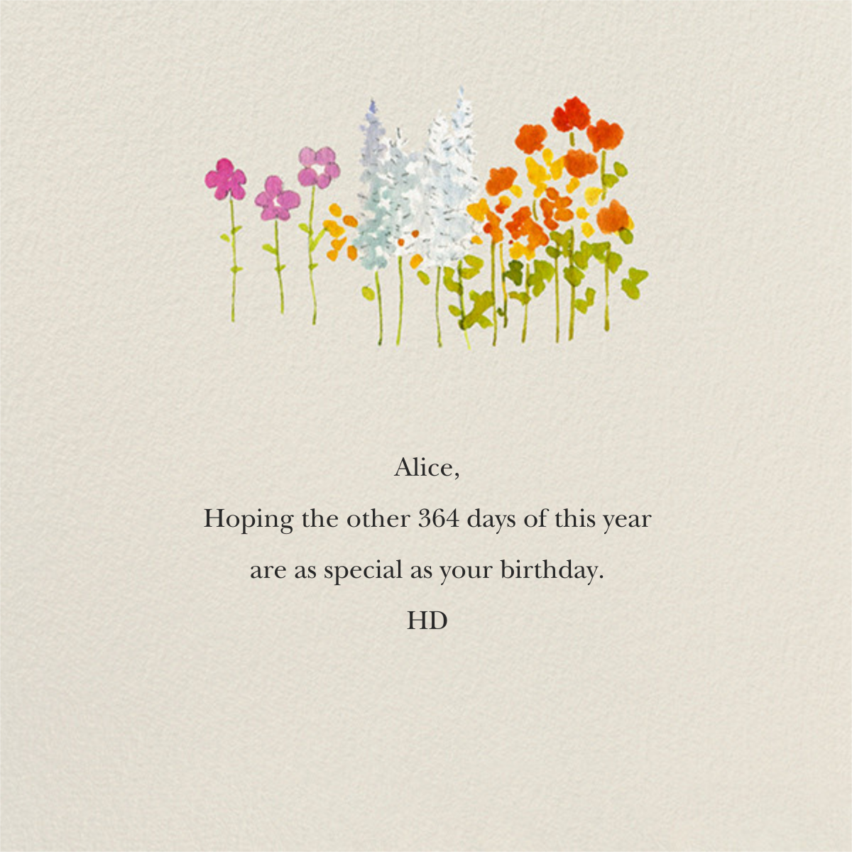 Wildflower Stems - Felix Doolittle - Birthday cards