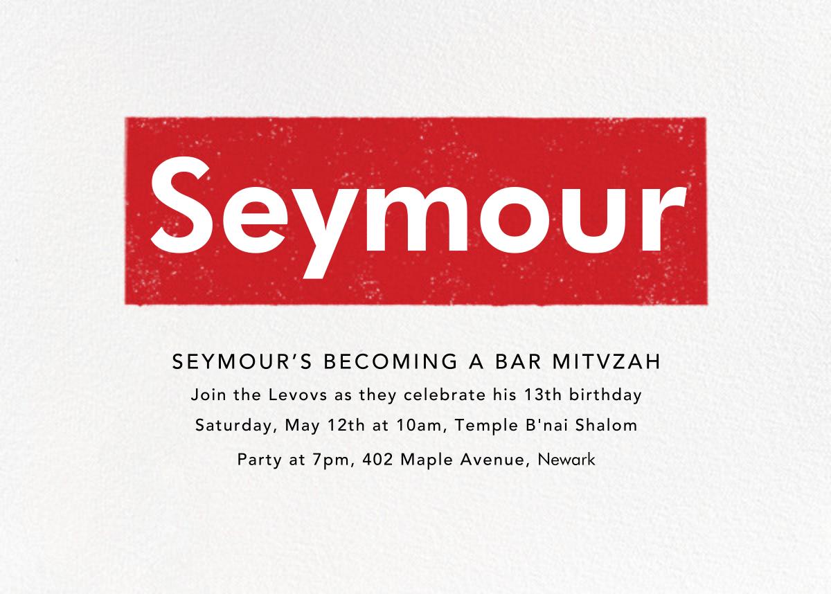 A Love Supreme (Bar) - Red - Paperless Post - Bar and bat mitzvah