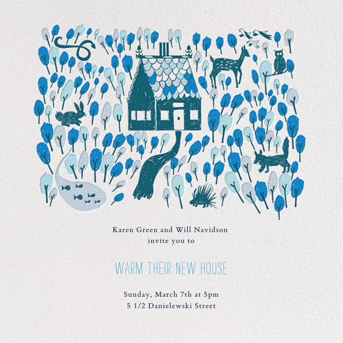 Red Riding Hood's New Home - Blue - Mr. Boddington's Studio - Housewarming