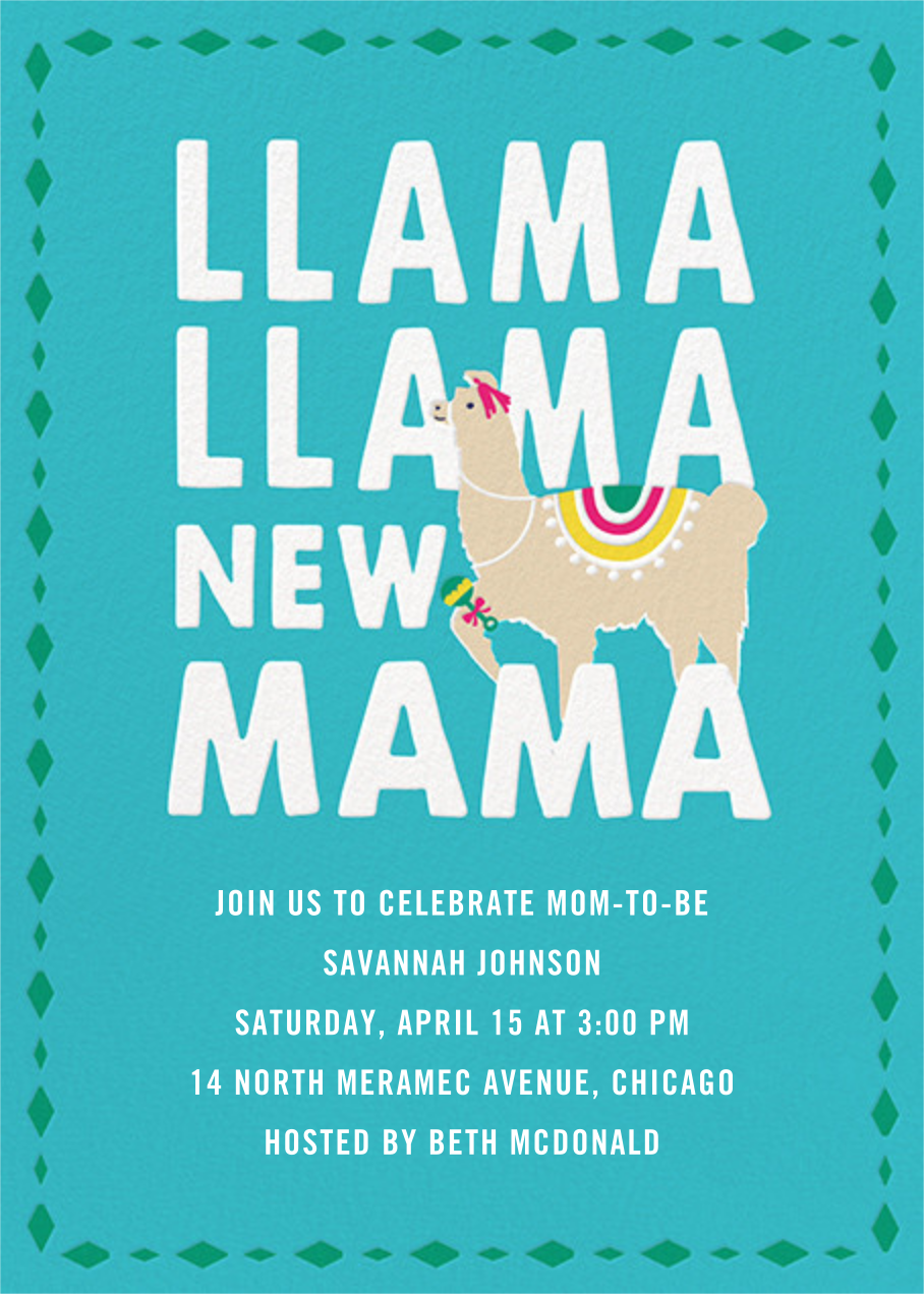 Llama New Mama - Cheree Berry - Baby shower