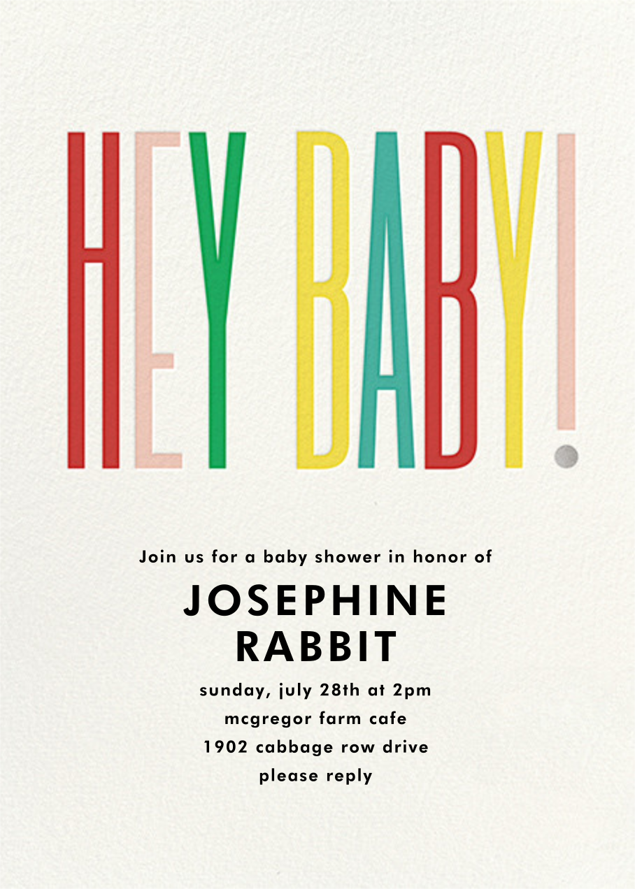 Hey Baby - kate spade new york - Baby shower