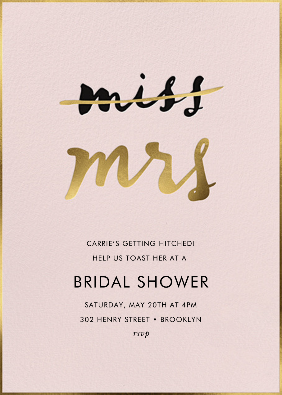 Miss Out - Antique Rose - kate spade new york - Bridal shower