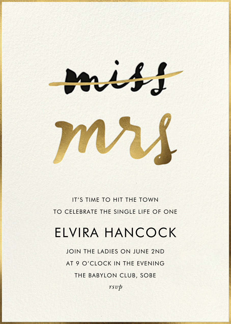 Miss Out - Cream - kate spade new york - Bachelorette party