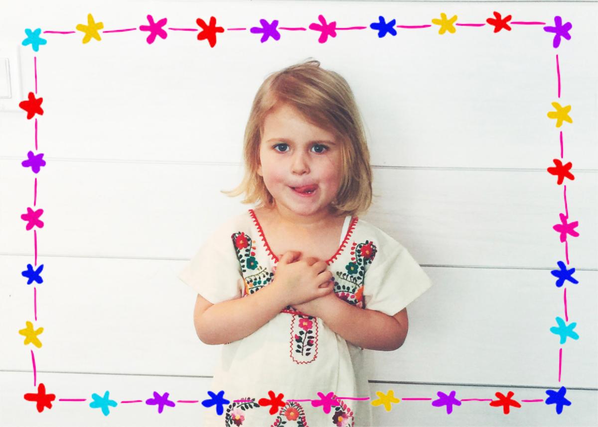 Floral Bunting Border - Linda and Harriett - Kids' birthday