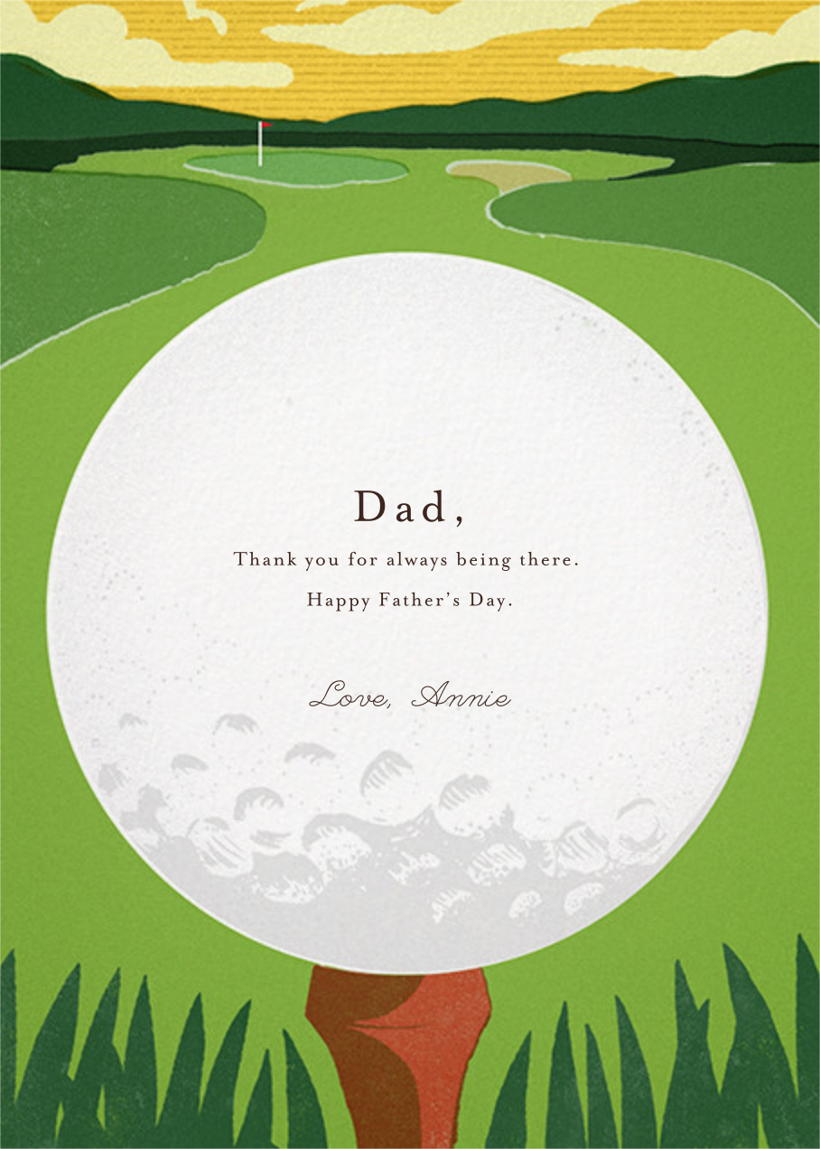 Tee Time - Paperless Post - Father's Day