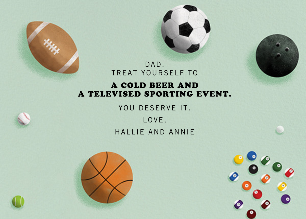 Sports Balls - Paperless Post - Father's Day