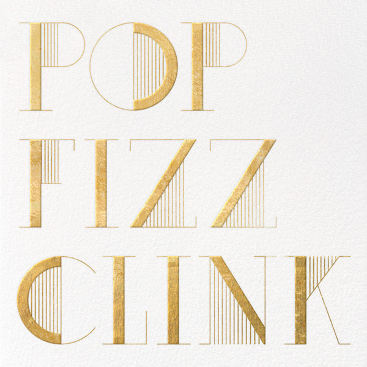 Pop Fizz Clink (Square) - White/Gold  - kate spade new york - Cocktail party
