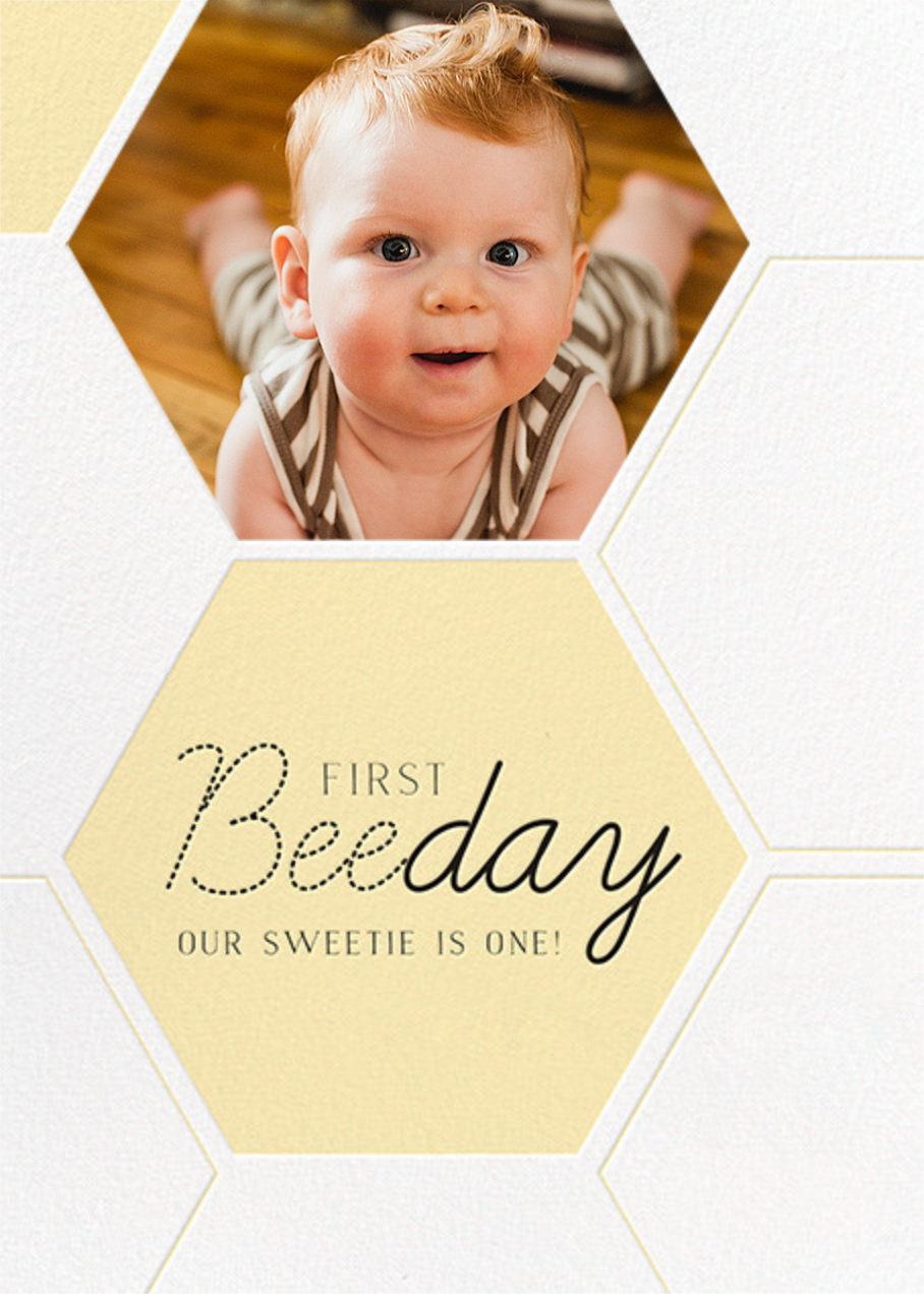 Beeday Sweetie - Paper + Cup - First birthday and baby