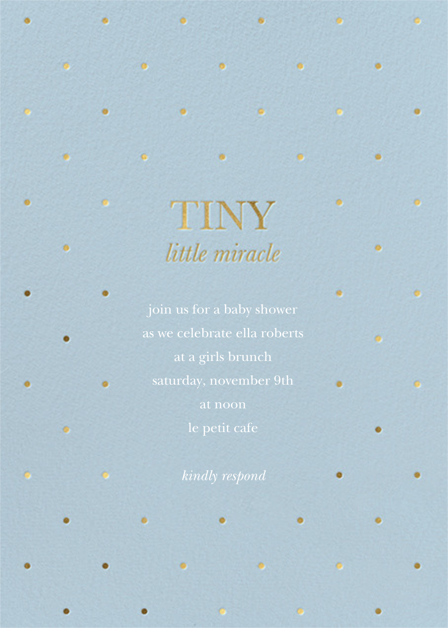 Little Miracle - Spring Rain - Sugar Paper - Baby shower