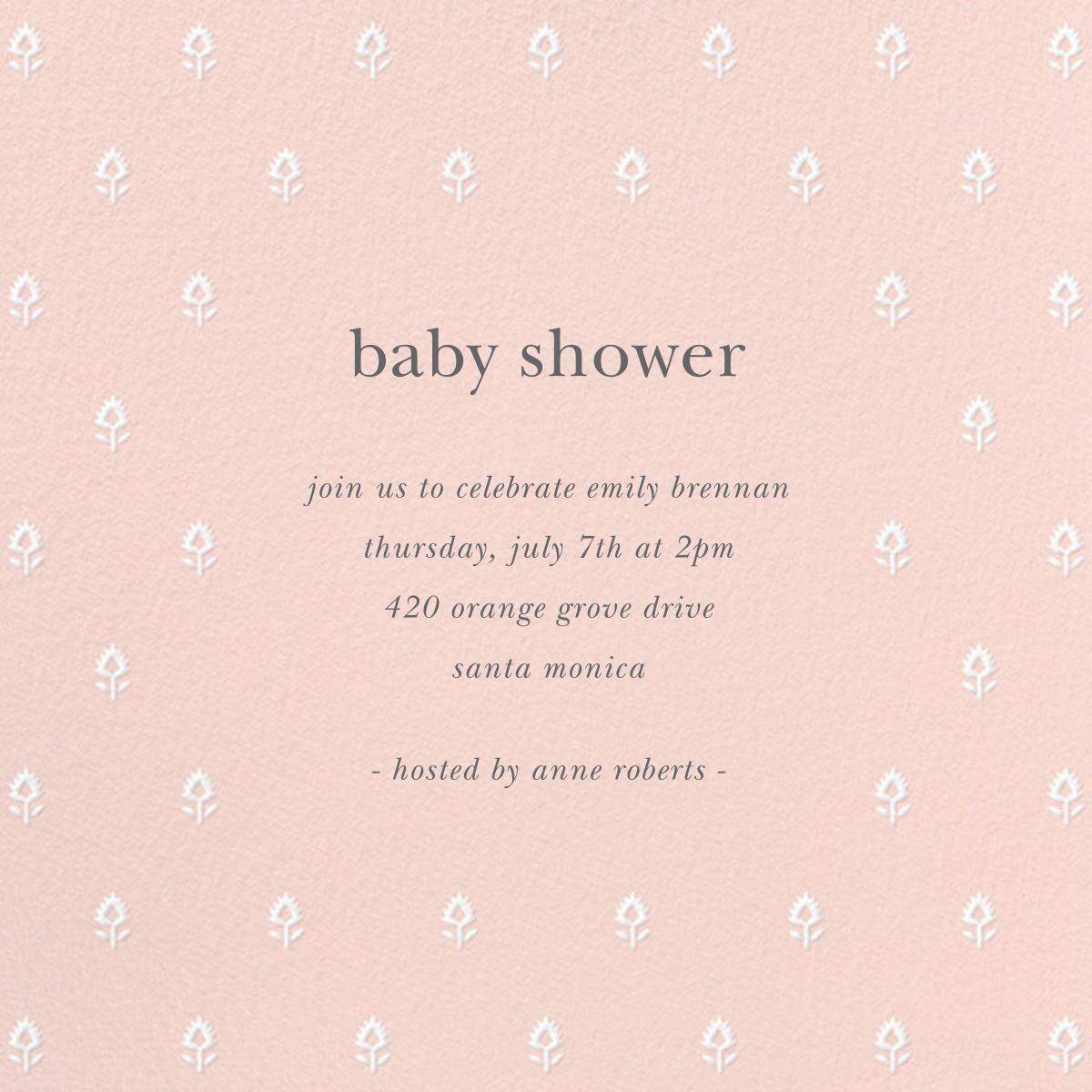 Embroidered Blossom - Meringue - Sugar Paper - Baby shower