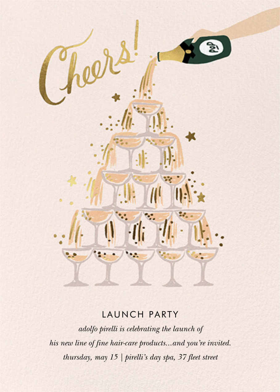 Champagne Tower - Fair - Rifle Paper Co. - Professional events