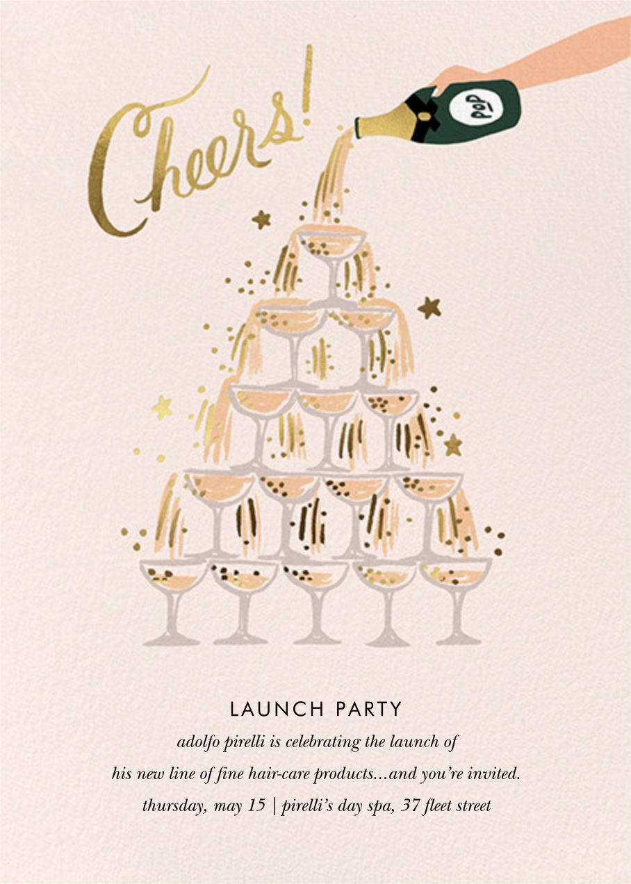 Champagne Tower - Rifle Paper Co. - Professional events