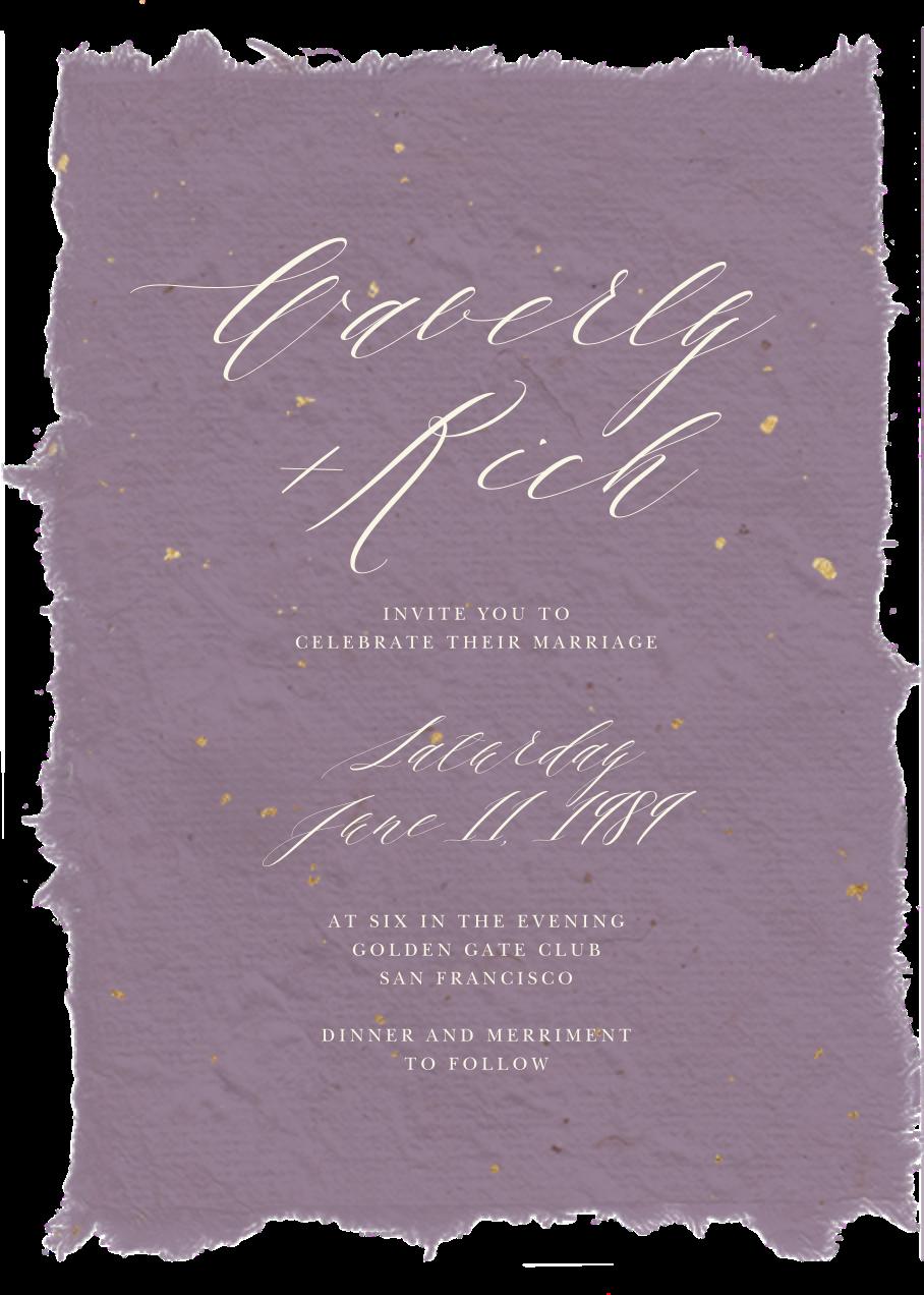 Cennini (Invitation) - Lilac - Paperless Post - All