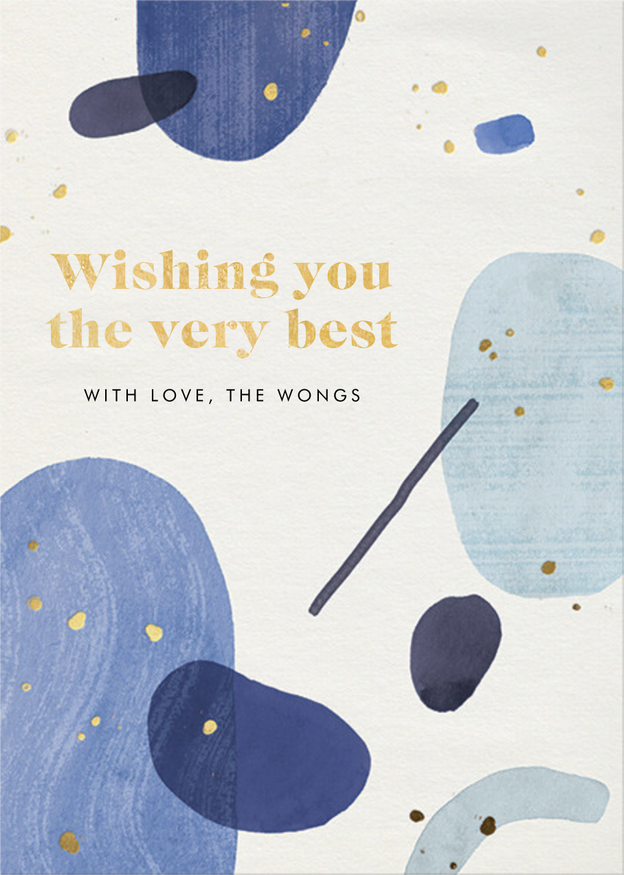 Bluets - Paperless Post - Holiday cards