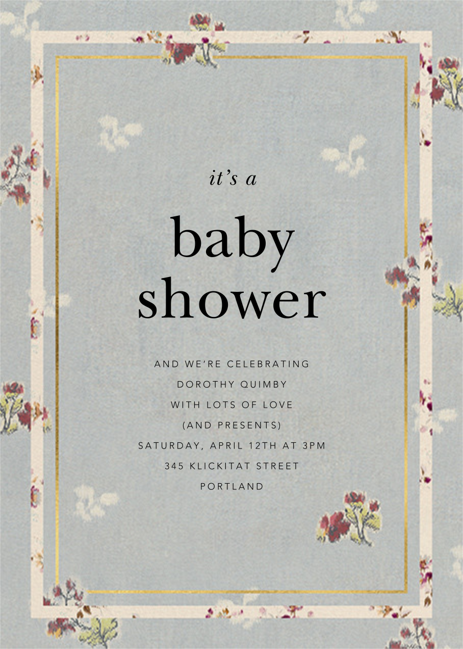 Gilda - Brock Collection - Baby shower