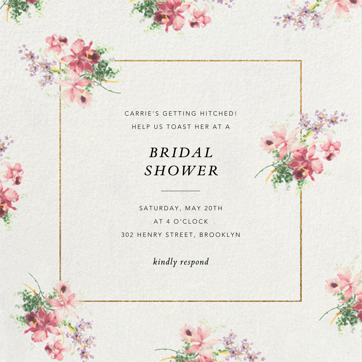 Kundry - Brock Collection - Bridal shower