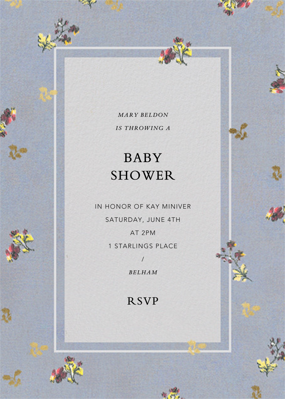 Poppea - Brock Collection - Baby shower