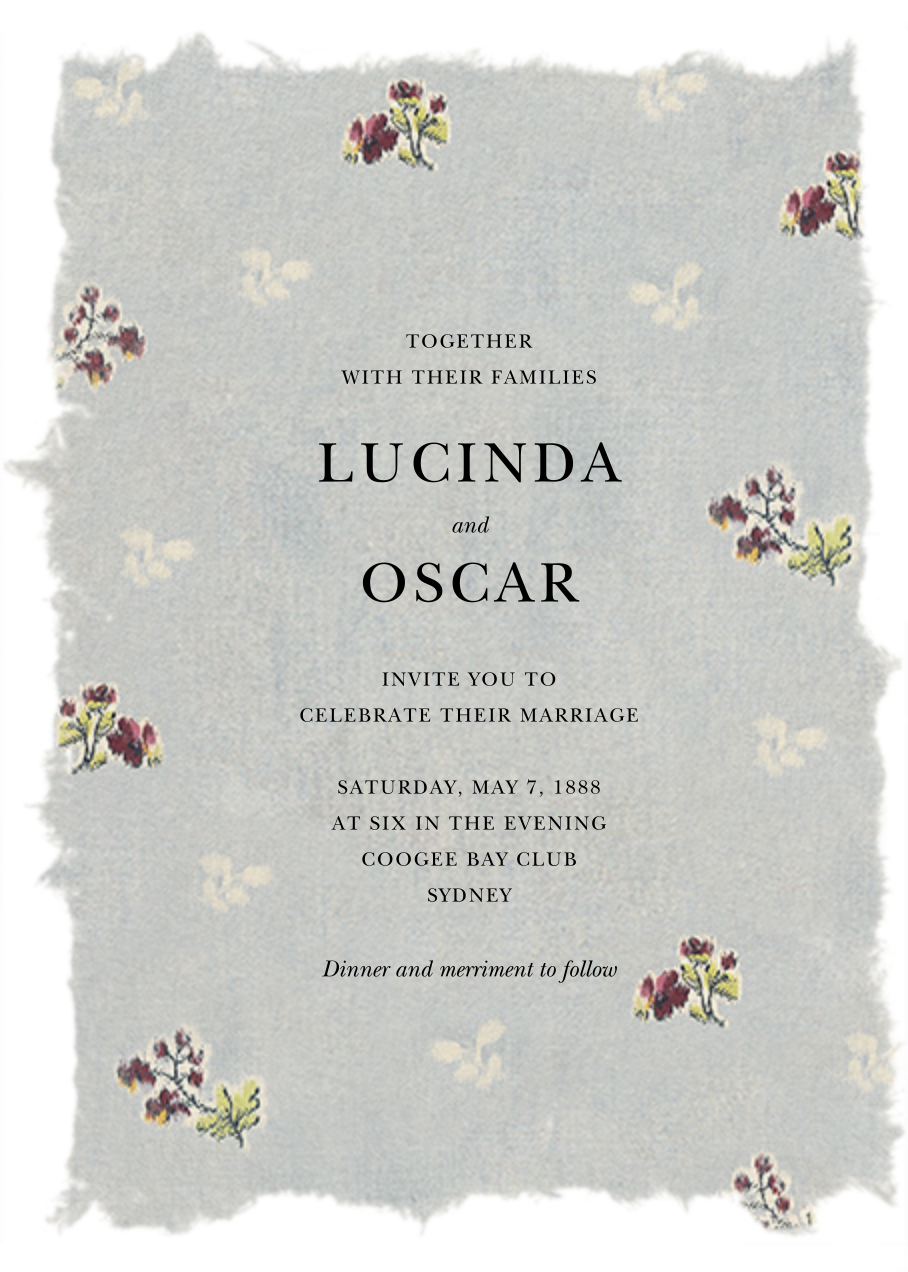 Theda (Invitation) - Brock Collection - All