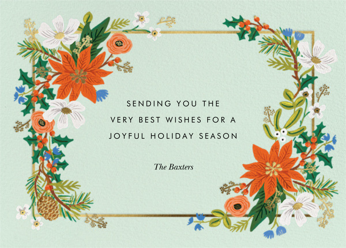 Winter Frame - Rifle Paper Co. - Holiday cards