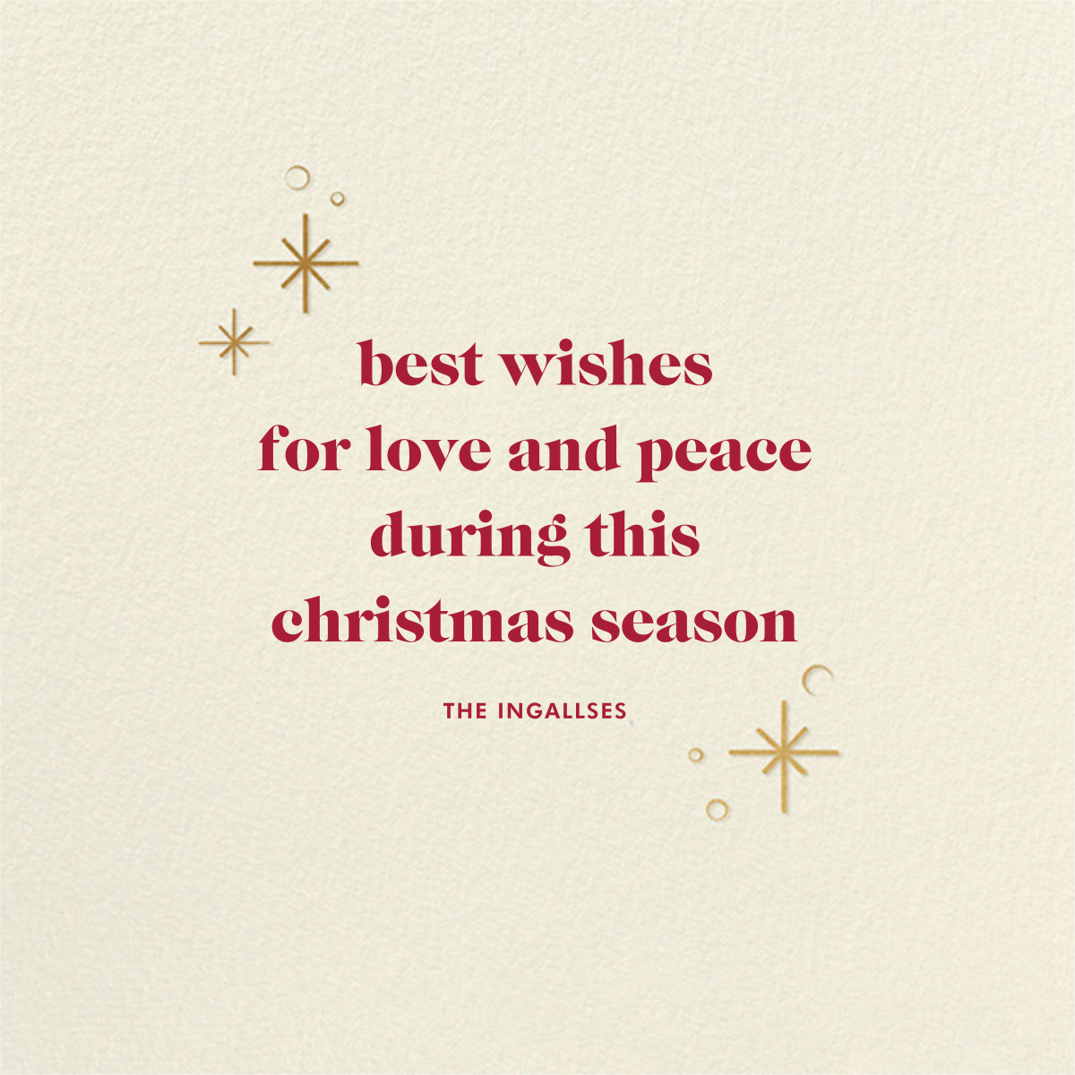Celestial Snowflake - Red - Paperless Post - Christmas - card back