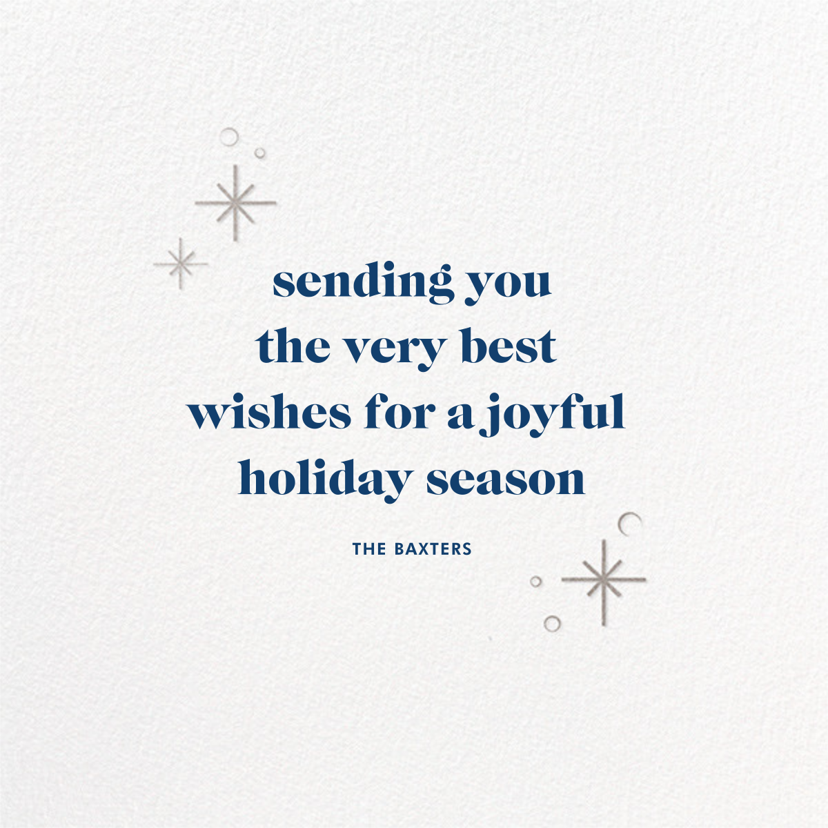 Celestial Snowflake - Blue - Paperless Post - Holiday cards - card back