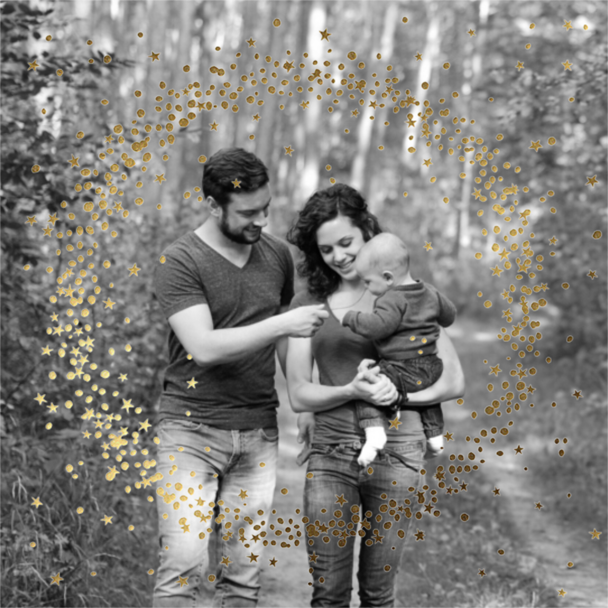 Wreath of Stars Photo - Paperless Post - New Year