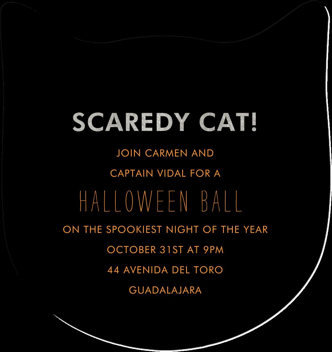 Scaredy Cat - Meri Meri - Halloween - card back
