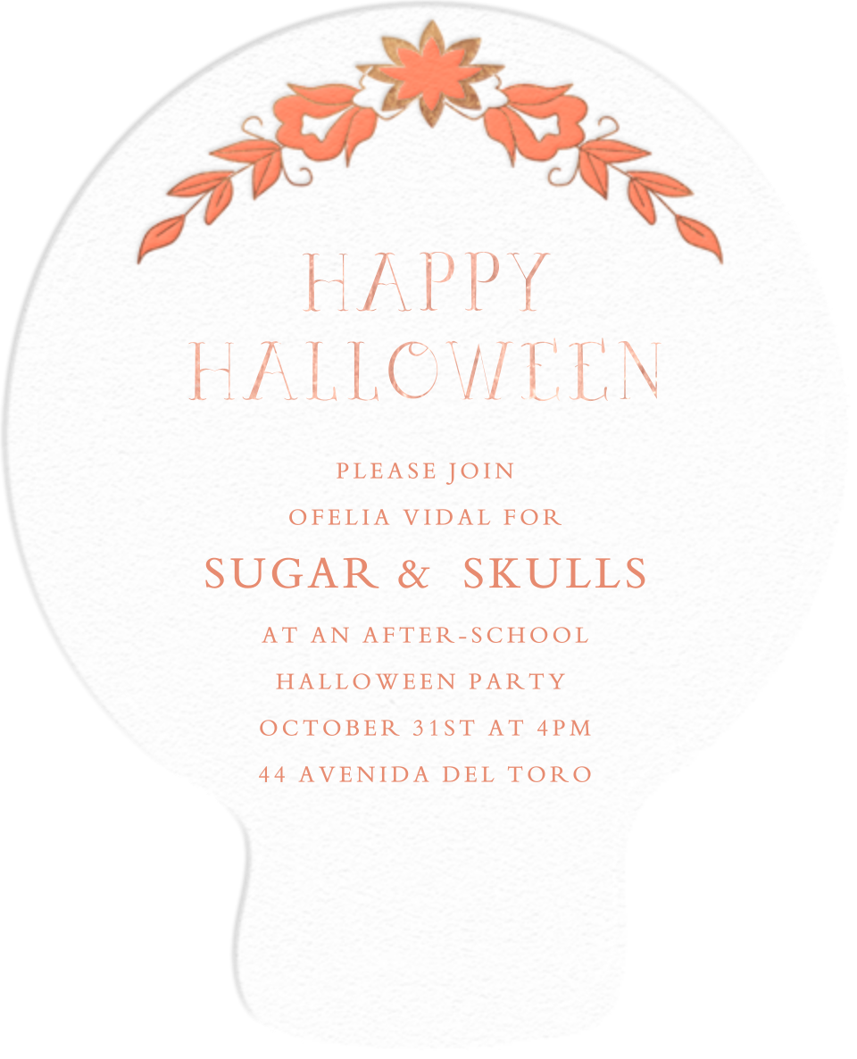 Sugar Skull - Meri Meri - Halloween - card back