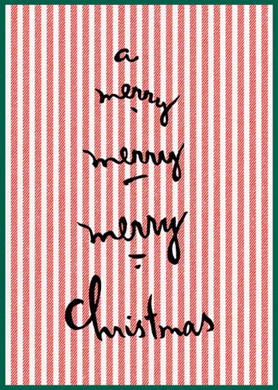 Candy Cane Crosshatch - kate spade new york - Christmas