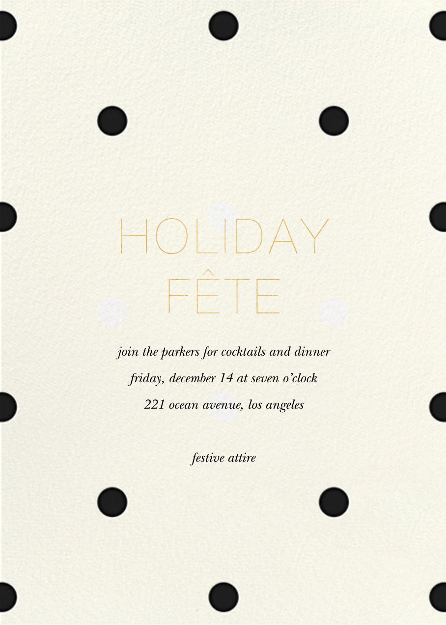 Diadem Dots - Black - Sugar Paper - Holiday party